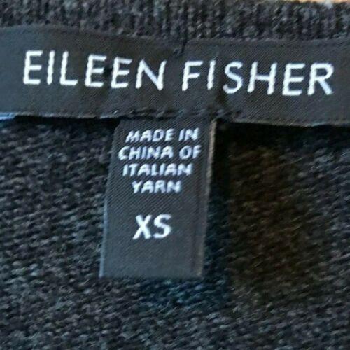 Uld Cashmere Fisher Stripe Størrelse Eileen Drape g Merino Cardigan Xs Grå Ruffle qZ76xBfn