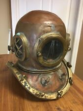 RARE ANTIQUE KOREAN COPPER & BRASS 12 BOLT NAUTICAL DIVE HELMET AUTHENTIC