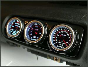 Audi-A3-8L-Seat-Leon-1M-Mk1-Centre-Air-Vent-Pod-Gauge-Holder-3-Hole-Gloss-Black