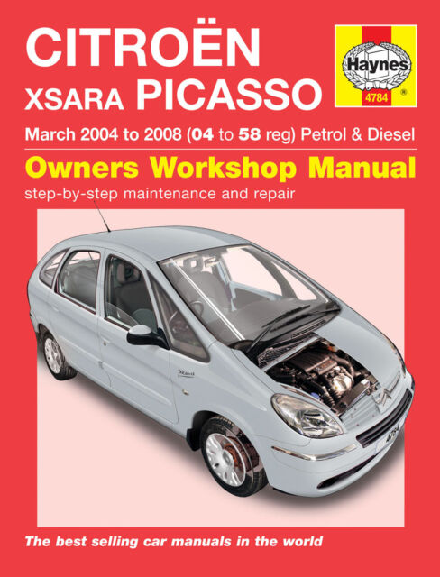 haynes workshop manual 4784 for citroen xsara picasso 2004 to 2008 rh ebay co uk  manual xsara break 1999