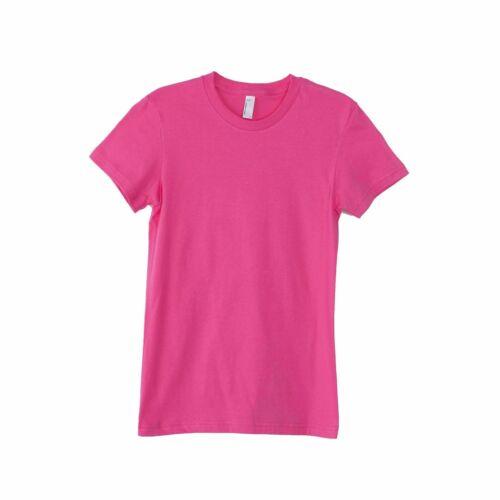 American Appaerl AA003 Women/'s Ladiesfine Jersey short sleeve tee S-XL