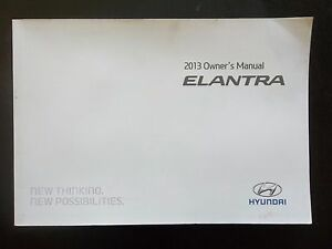 Superior Image Is Loading N132 2013 HYUNDAI ELANTRA OWNER 039 S MANUAL