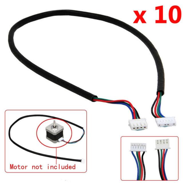 10 Pcs 100cm 4-wire Cable For Stepper Motor NEMA17 Shaft 5mm CNC Makerbot