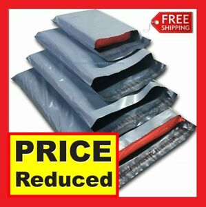 Grey-Mailing-Bags-Strong-Poly-Postal-Post-Postage-Mail-Self-Seal-All-Sizes