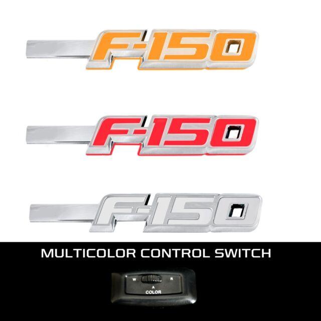 RECON LED Fender Emblems with Black Trim for 2009-2014 Ford F-150 264282BK