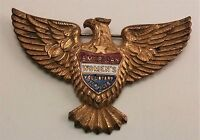 World War II American Women's Voluntary Services Eagle Pin/ Badge