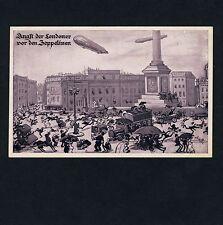 ZEPPELIN ÜBER LONDON / Airship WW I Luftschiff Luftflotten-Verein * AK um 1915