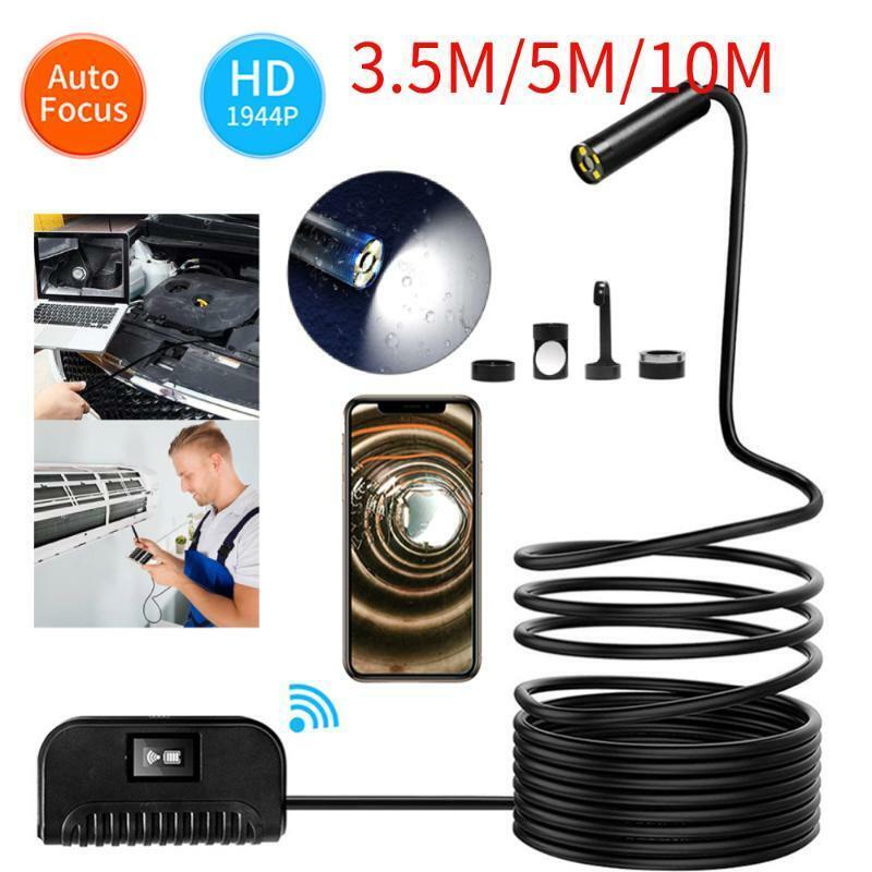 Wi-Fi Kabellos Auto Fokus 5MP 14.2mm IP68 70° Endoskop Schlange Inspektion Cam