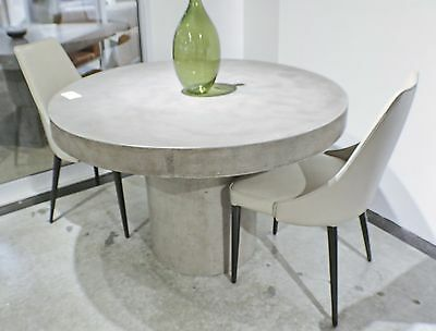 60 Round Dining Table Solid Concrete, Concrete Round Dining Table For 6