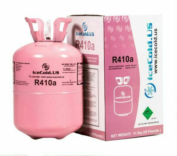 R410a, R410a Virgin, Factory Sealed Refrigerant 25lb tank  New Factory  Sealed