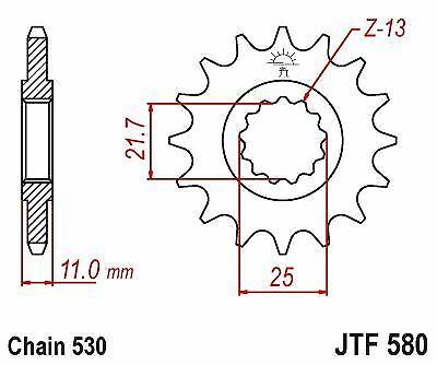 JT Rubber Cushioned Front Sprocket 16 Teeth fits Yamaha YZF-R6 /</</< 530 Chain 04