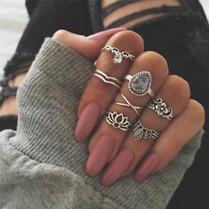 7PCS-1Set-Midi-Finger-Knuckle-Ring-Vintage-Punk-Boho-Knuckle-RingsWomenJewelr-Ey