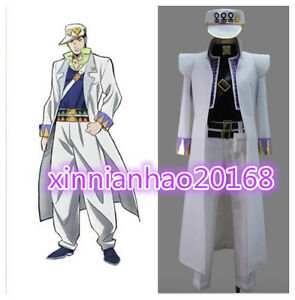 New JoJo/'s Bizarre Adventure Part 4 Jotaro Kujo Set Unisex Cosplay Costumes Cos