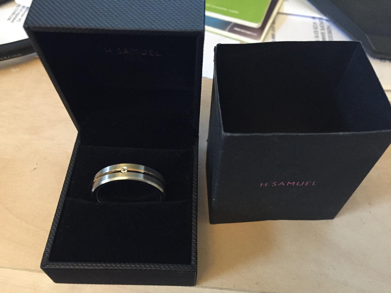 Cobalt & pink gold Cubic Zirconia Set Ring
