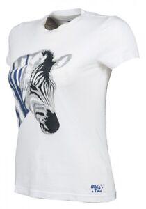 Kinder-T-shirt-Bibi-amp-Tina-Zebra-weiss-NEU