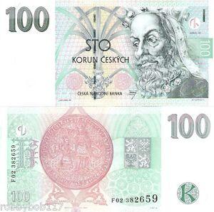 Image Is Loading Czech Republic 100 Korun Banknote World Paper Money