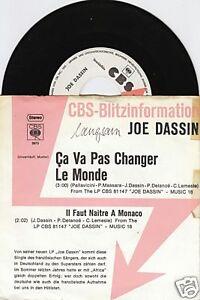 JOE DASSIN Ca Va Pas Changer Le Monde 45/GER/PROMO