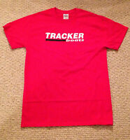 Tracker Boats X-large T-shirt With Free Sticker Bass Boat Fish You Get 2 Decal