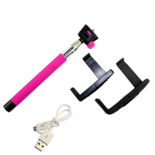 Wireless Monopod Selfie Stick Telescopic /& Bluetooth Remote Mobile Phone Holder