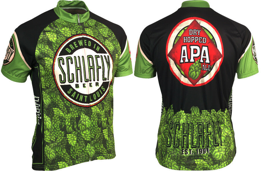 Microbrewery Men's Schlafly Beer Cycling Jersey  2XL Hard to find big sizes   cheaper prices