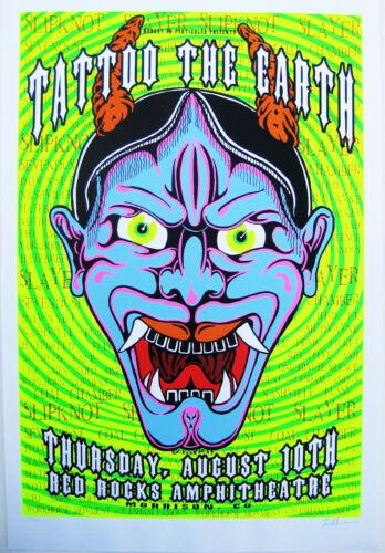 Slayer w/ Slipknot Poster Mudvayne S/N 2000 Concert Poster by Lindsey Kuhn