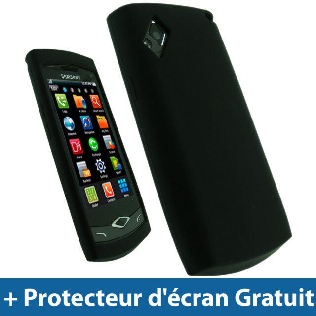 Noir Silicone Etui pour Samsung Wave S8500 Android Portable Housse Coque Case