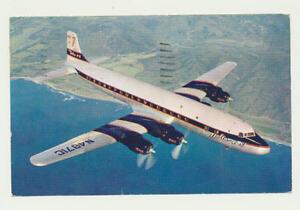 Original-AK-Douglas-DC-7-im-Flug
