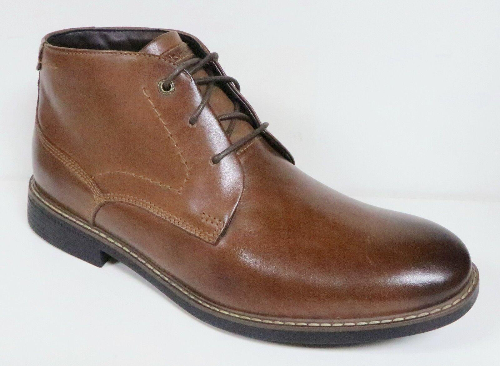 Rockport Break para Hombre Marrón Cuero Clásico Chukka botas Zapatos Con Cordones De Nuevo
