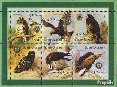 Never Hinged 2001 Birds Liberal Guinea-bissau 1446-1451 Sheetlet Unmounted Mint Stamps Animal Kingdom