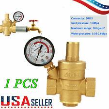 Npt 12 Water Pressure Regulator Lead Free Brass Reducer Amp Gauge Water Valve