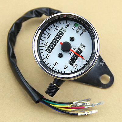 Universal Motorcycle LED Backlight Signal Light Dual Odometer Speedometer Gauge