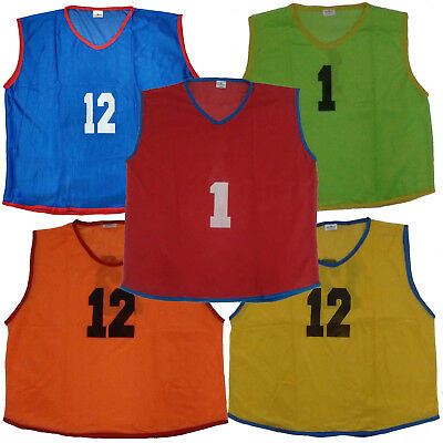 Details about  /12X Adult Vest Skin‑Friendly Practice Pinnies Free Size for Soccer Basketball