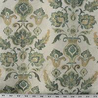 Drapery Upholstery Fabric Woven Jacquard Damask - Turquoise