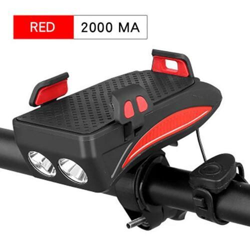 Details about  /Bike Lights Luces De Bicicleta Multifunción Lámpara De Cabeza LED Recargable USB
