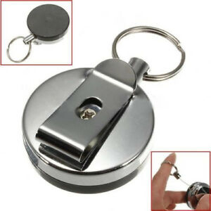 DI-Retractable-Metal-Card-Badge-Holder-Recoil-Ring-Belt-Clip-Pull-Key-Chain