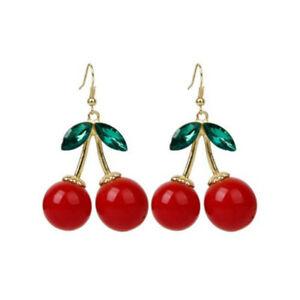 1-Pair-Women-Lovely-Cherry-Drop-Dangles-Rhinestone-Ear-Studs-Earrings-Gift-JT