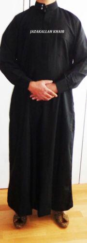 Arab fancy dress-black Jubba with collar 52//54//56//58 jubba