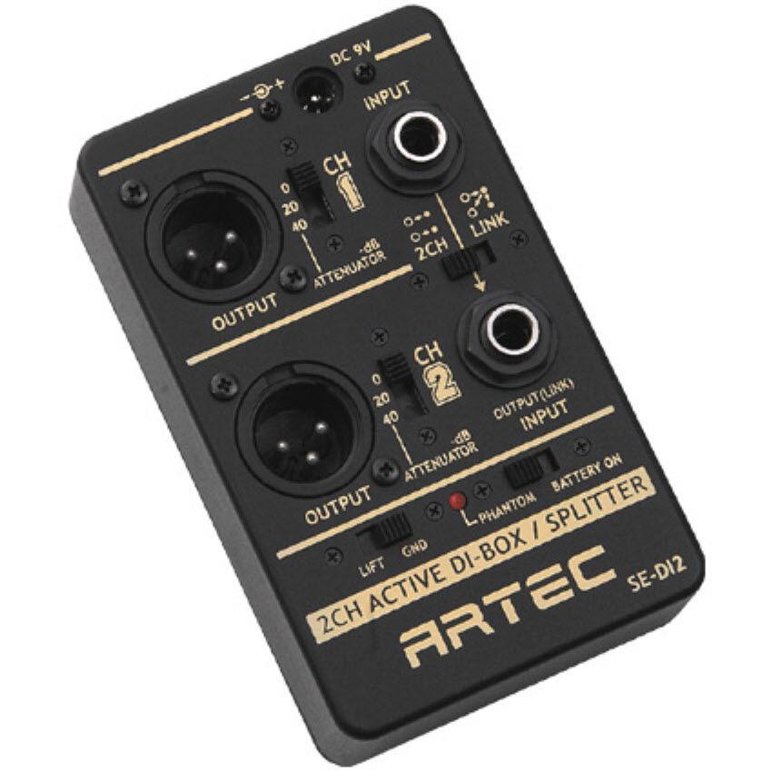 SE-DI2 - - - ARTEC 2ch Caja DI Activa-caja de interfaz directa  respuestas rápidas