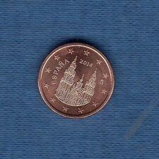 Espagne - 2014 - 1 centime d'euro - Pièce neuve de rouleau -