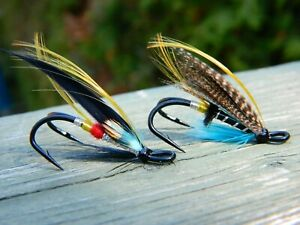 Classic fly for Atlantic Salmon Assortment of double hook Size #6 Pack of 5
