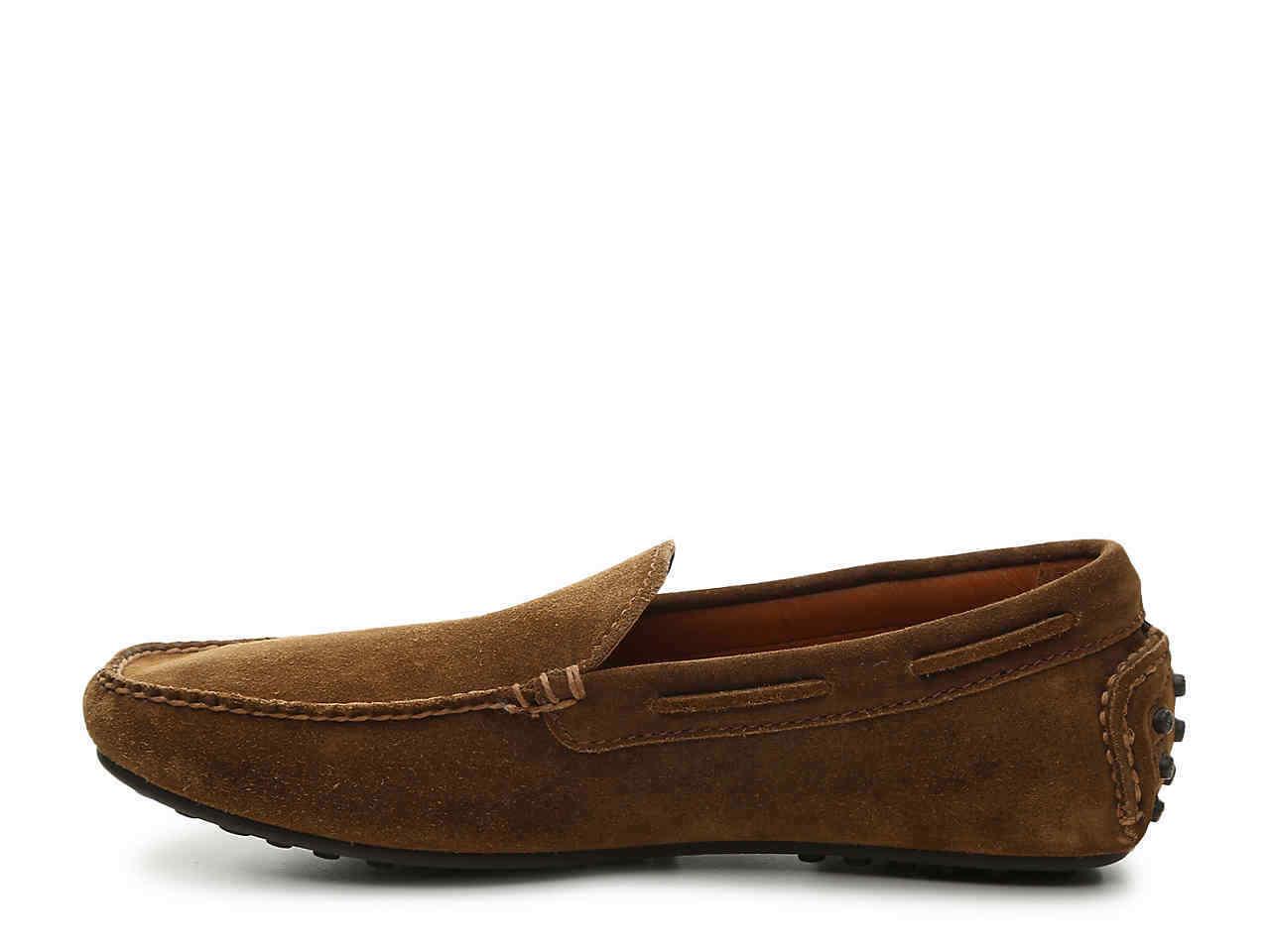 New Frye Men's Allen Venetian Drivers Brown Suede Loafers shoes sz 12M D