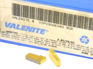 9-NEW-SURPLUS-VALENITE-CARBIDE-INSERTS-VIPV-300E040-GRADE-902