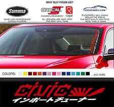 "20"" JDM kanji Honda civic car sticker windshield windscreen banner Mugen decal"