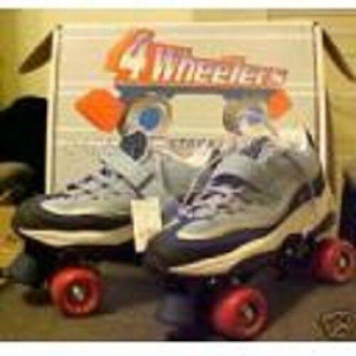Größe 10 ladies SKECHERS 4 WHEELER ROLLER SKATES skate quad derby NIB Damenss