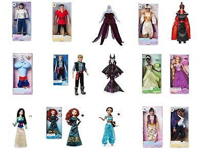 Disney Store Classic Doll Film Poupées Jouets Raiponce Aladdin Mulan Merida Tiana