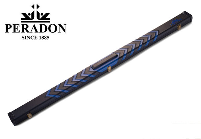 Mallette rigide Peradon bleu & noir Clubman pour queue de billard 3 4  allonge