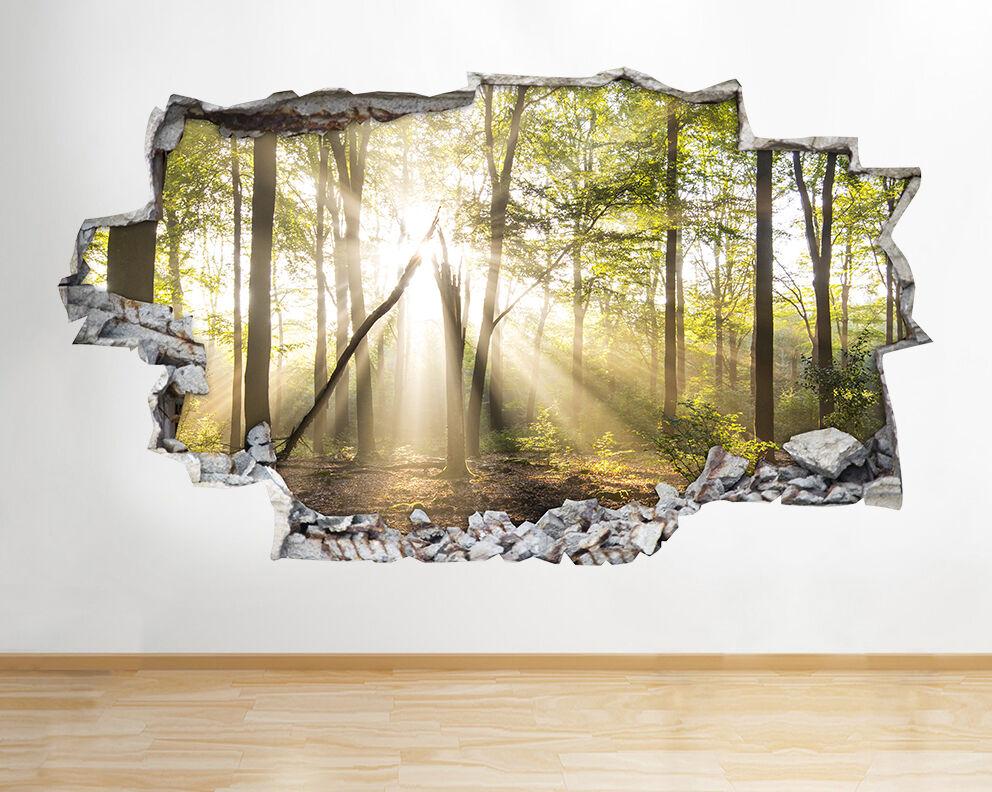 B115 alberi della foresta Sole Natura della del adesivo da parete camera bambini