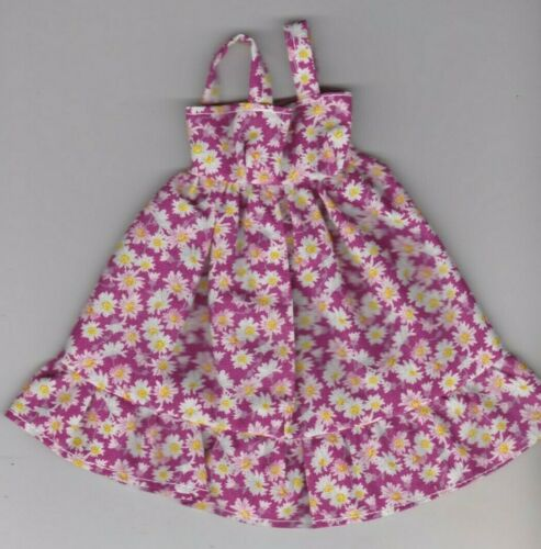 Doll Clothes-Purple and Pink Floral Print Sundress fit Barby Doll-Homemade SD3