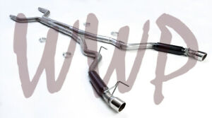 """Dual 3"""" Cat Back Exhaust System & Aggressive Mufflers 15-17 Ford Mustang GT 5.0L"""