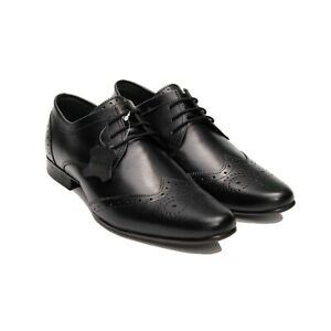 Men-039-s-Perforated-Leather-Shoes-Formal-Lace-Up-Wing-Tip-Toe-Shoes-AU-UK-Size